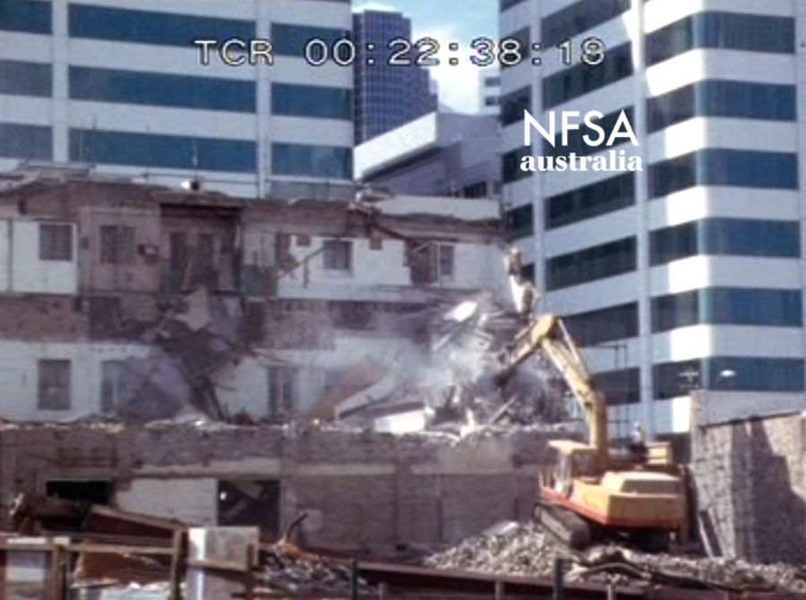 Demolition of the Chatswood Arcadia, 1983