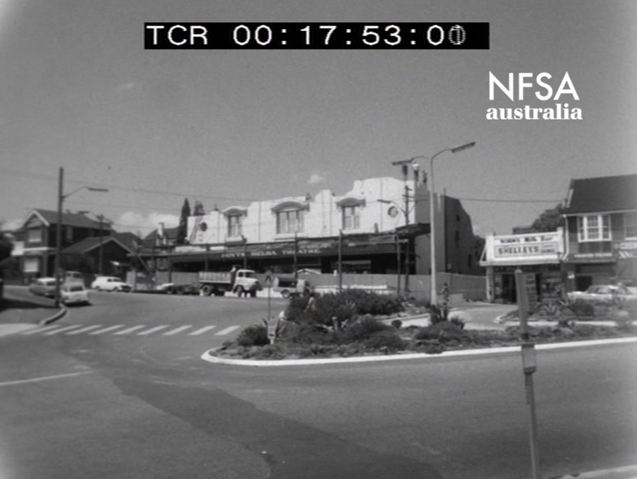 During - Still from film footage of the demolition of The Strathfield Melba, 1969 (NFSA Title No: 395612)