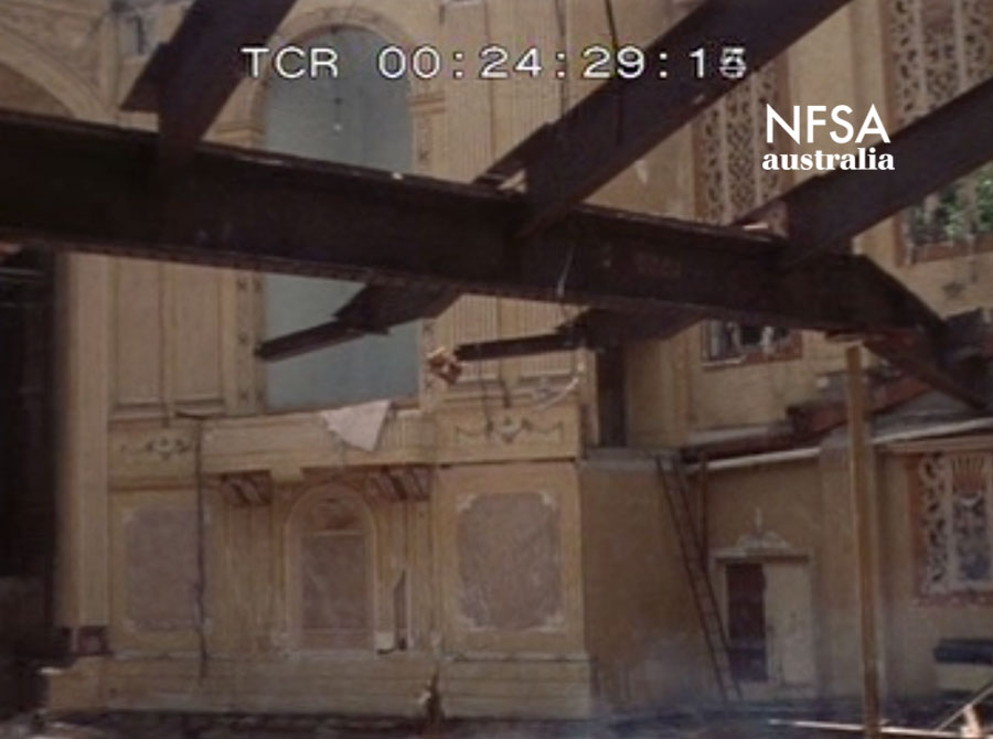 Demolition of the Winter Garden Theatre, Rose Bay, 1987 (NFSA master title no. 395513)