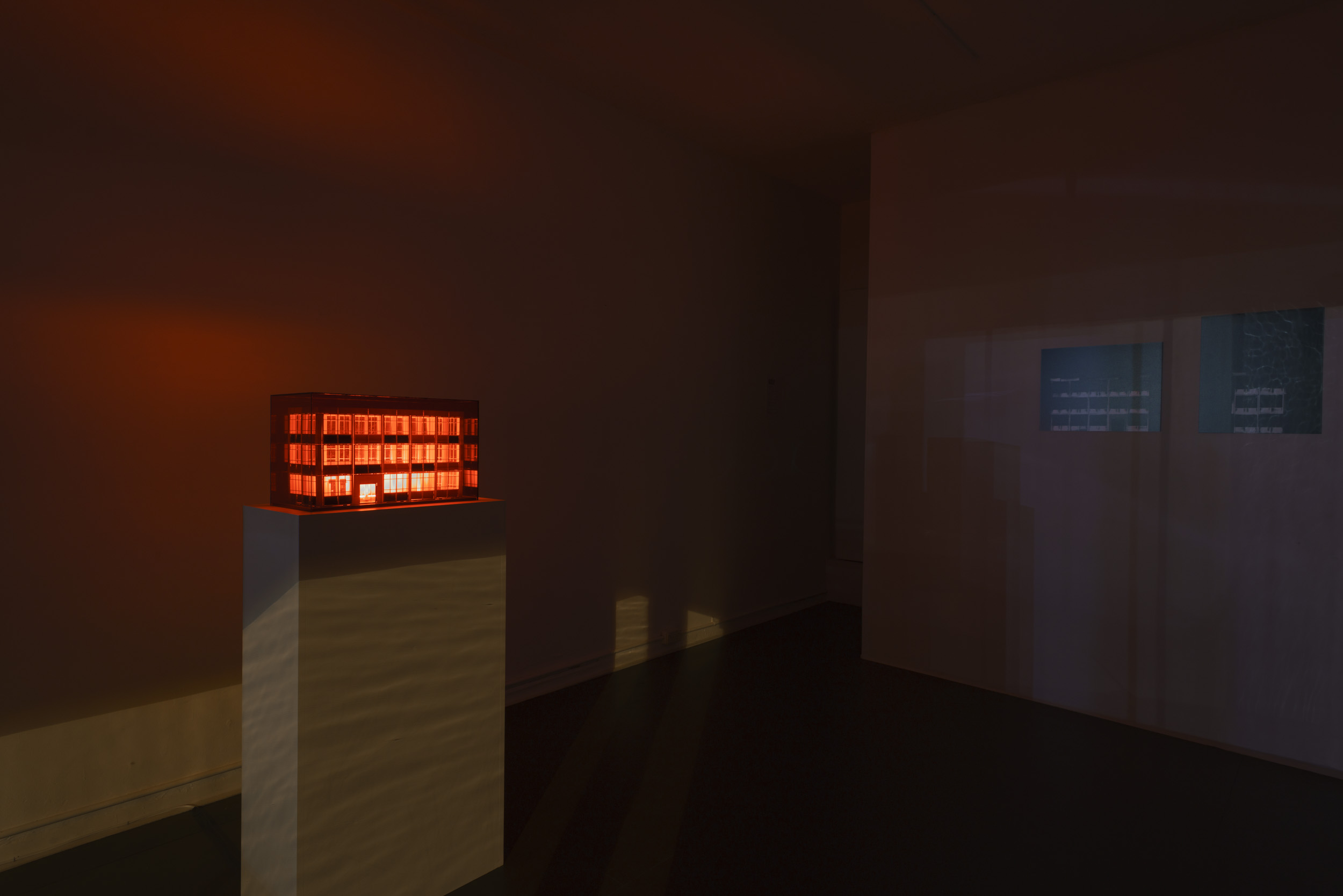 International Red Light, installation, night view